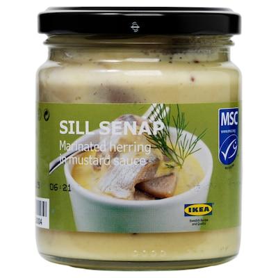 SILL SENAP Ingelegde haring met mosterdsaus, 250 g
