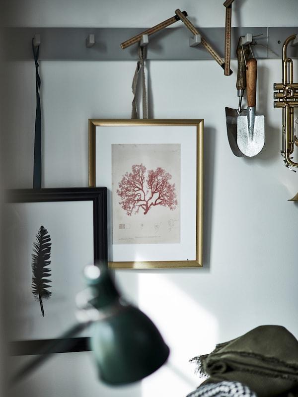 SILVERHÖJDEN Fotolijst, goudkleur, 21x30 cm
