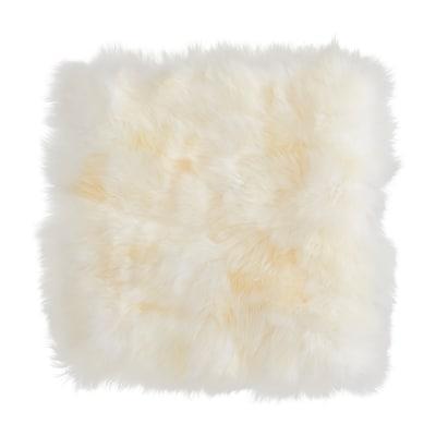 SKOLD Kussenovertrek, schapenvacht/wit, 50x50 cm