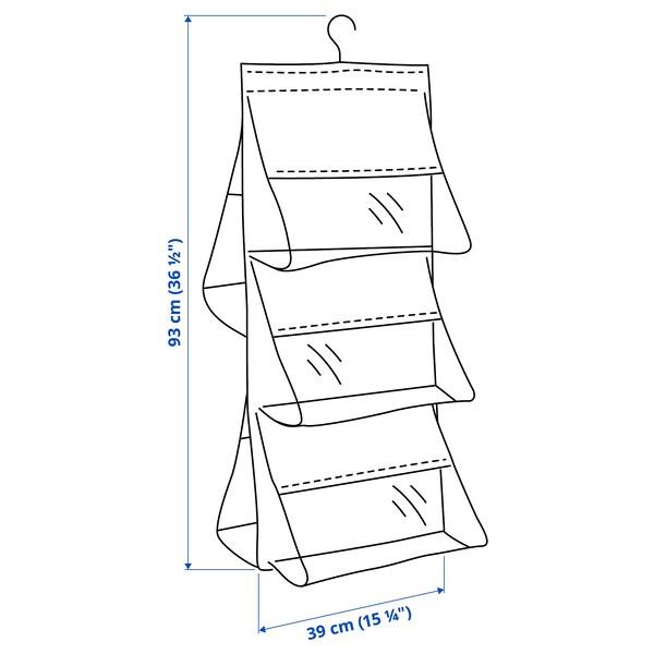 SKUBB Hangende opberger voor handtassen, donkergrijs, 39x93 cm