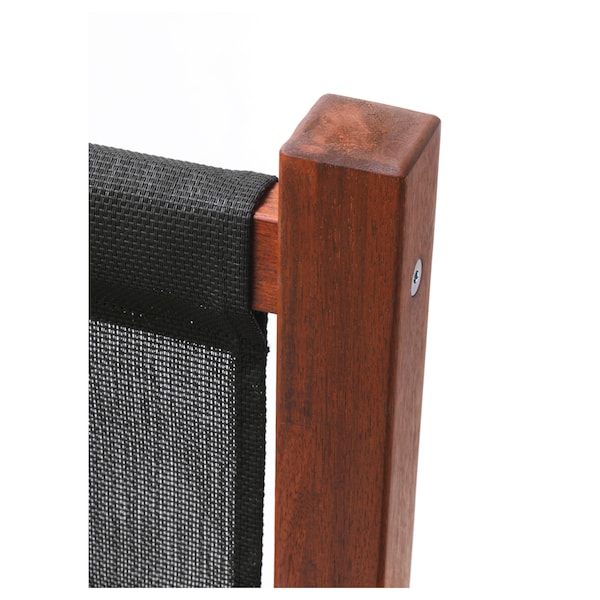 SLÄTTÖ Inkijkbeschermer, buiten, zwart/bruin gelazuurd, 211x170 cm