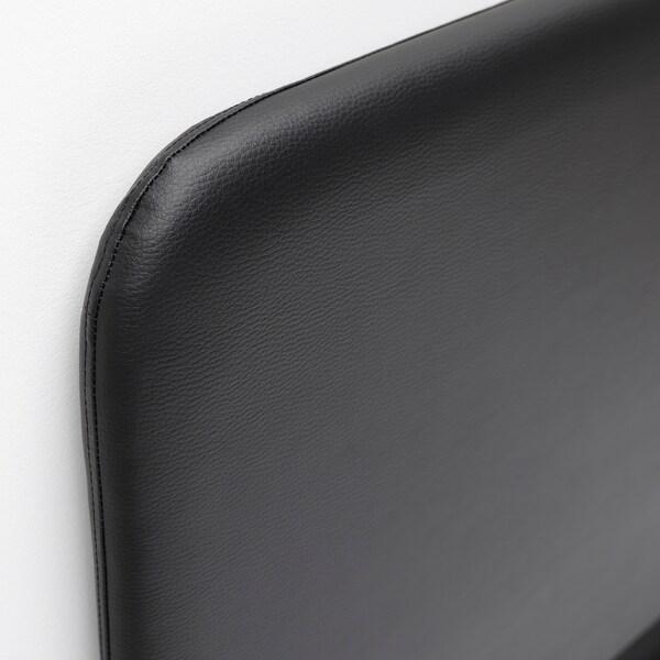 SLATTUM Gestoffeerd bed, Bomstad zwart, 90x200 cm
