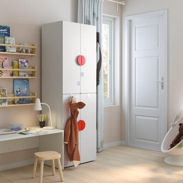 SMÅSTAD / PLATSA Kledingkast, wit wit/met 2 kledingroedes, 60x40x180 cm