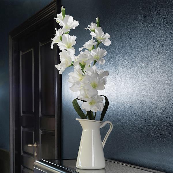 SMYCKA Kunstbloem, Gladiool/wit, 100 cm