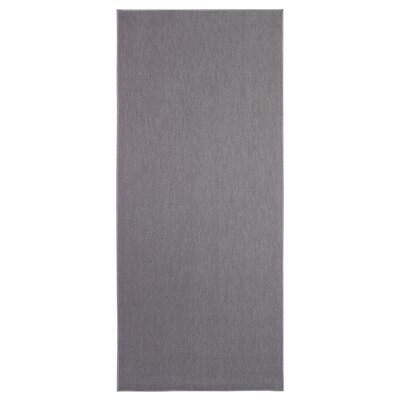SÖLLINGE Vloerkleed, glad geweven, grijs, 65x150 cm