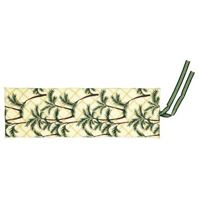 SOLBLEKT kussen voor ligbed palmpatroon geel 190 cm 60 cm 5 cm