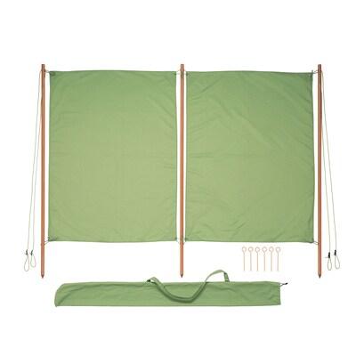 SOLBLEKT wind-/zonnescherm groen 194 cm 160 cm 25 mm
