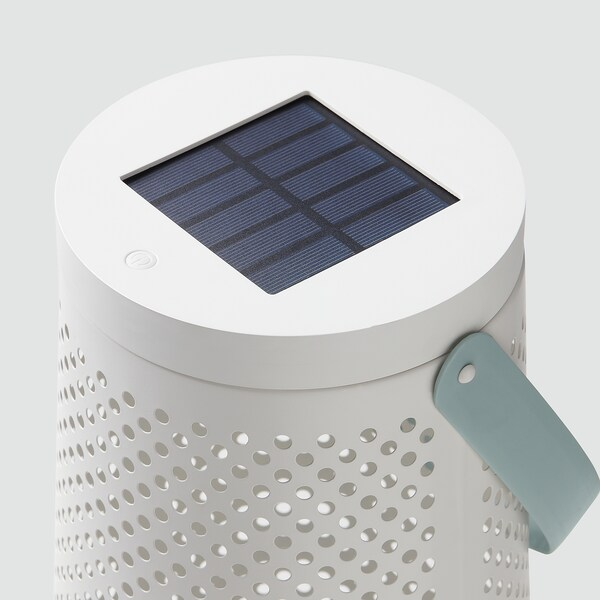 SOLVINDEN Staande led-lamp op zonnecellen, kegelvormig wit, 45 cm