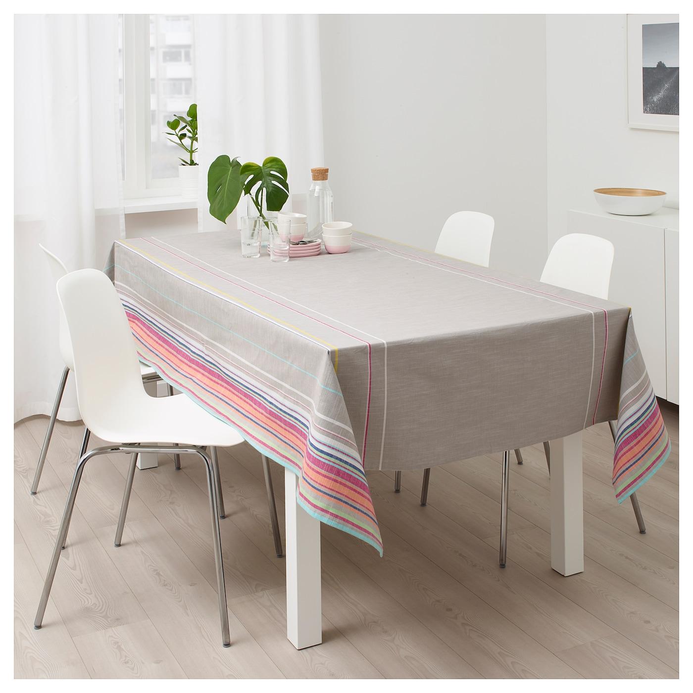 sommar 2018 tafellaken beige gestreept 145x240 cm ikea. Black Bedroom Furniture Sets. Home Design Ideas