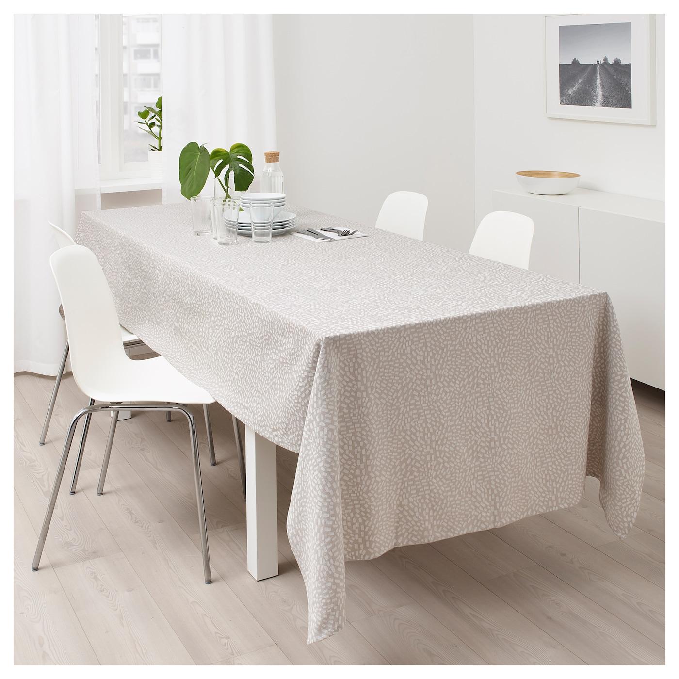 sommar 2018 tafellaken beige 145x320 cm ikea. Black Bedroom Furniture Sets. Home Design Ideas