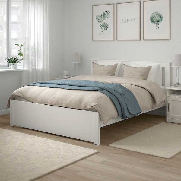 Ikea Wit Bed 140 X 200.Bedframe Songesand Wit