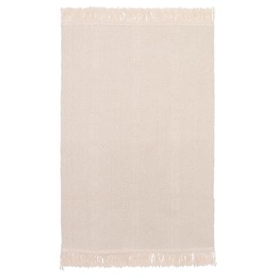 SORTSÖ Vloerkleed, glad geweven, ongebleekt, 55x85 cm