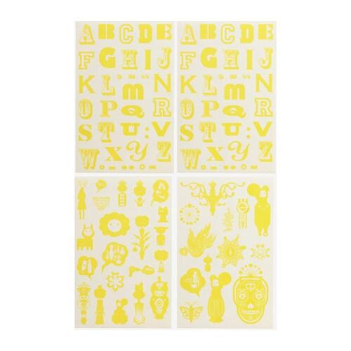 Sprutt zelfklevende decoratie ikea - Decoratie geel ...