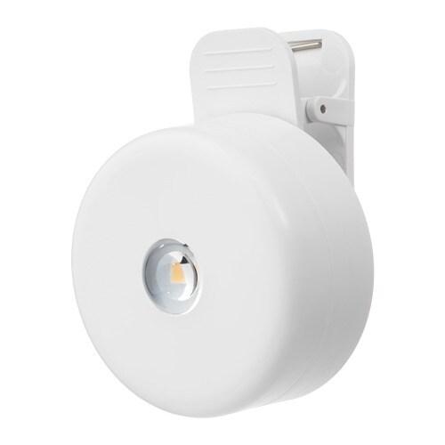 STÖTTA Led-klemspot Op batterijen wit - IKEA