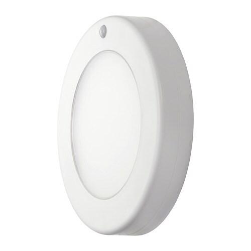 STÖTTA Led-plafond-/wandlamp Op batterijen wit - IKEA