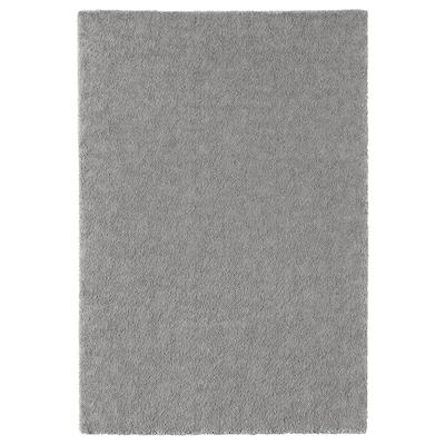 STOENSE Vloerkleed, laagpolig, middengrijs, 133x195 cm
