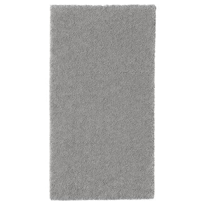 STOENSE Vloerkleed, laagpolig, middengrijs, 80x150 cm