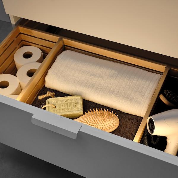STÖTTA Led-strip voor kast met sensor, op batterijen wit, 72 cm