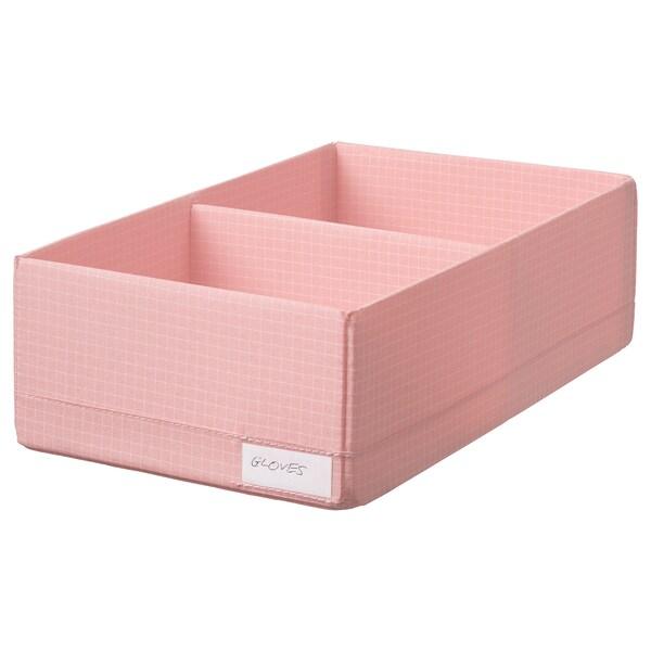 STUK Doos met vakken, roze, 20x34x10 cm
