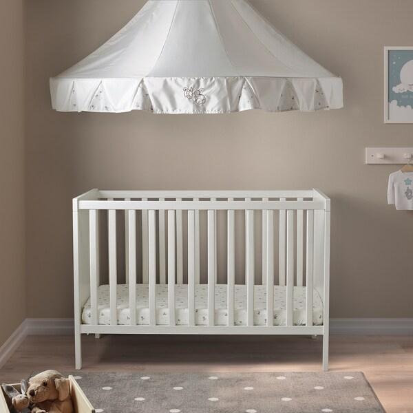 SUNDVIK Babybedje, wit, 60x120 cm