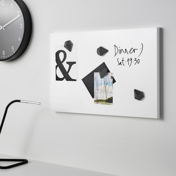 SVENSÅS memobord wit 60 cm 40 cm