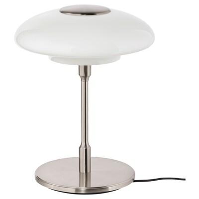 TÄLLBYN tafellamp vernikkeld/opaalwit glas 32 cm 40 cm 24 cm 200 cm 8.6 W
