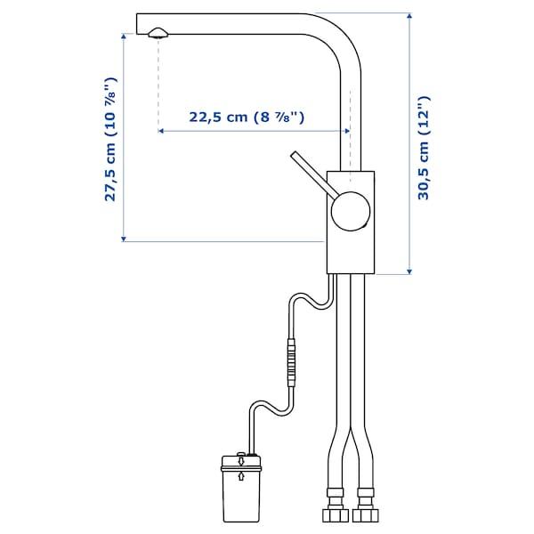 TÄMNAREN Keukenmengkraan met sensor, roestvrij staalkleur