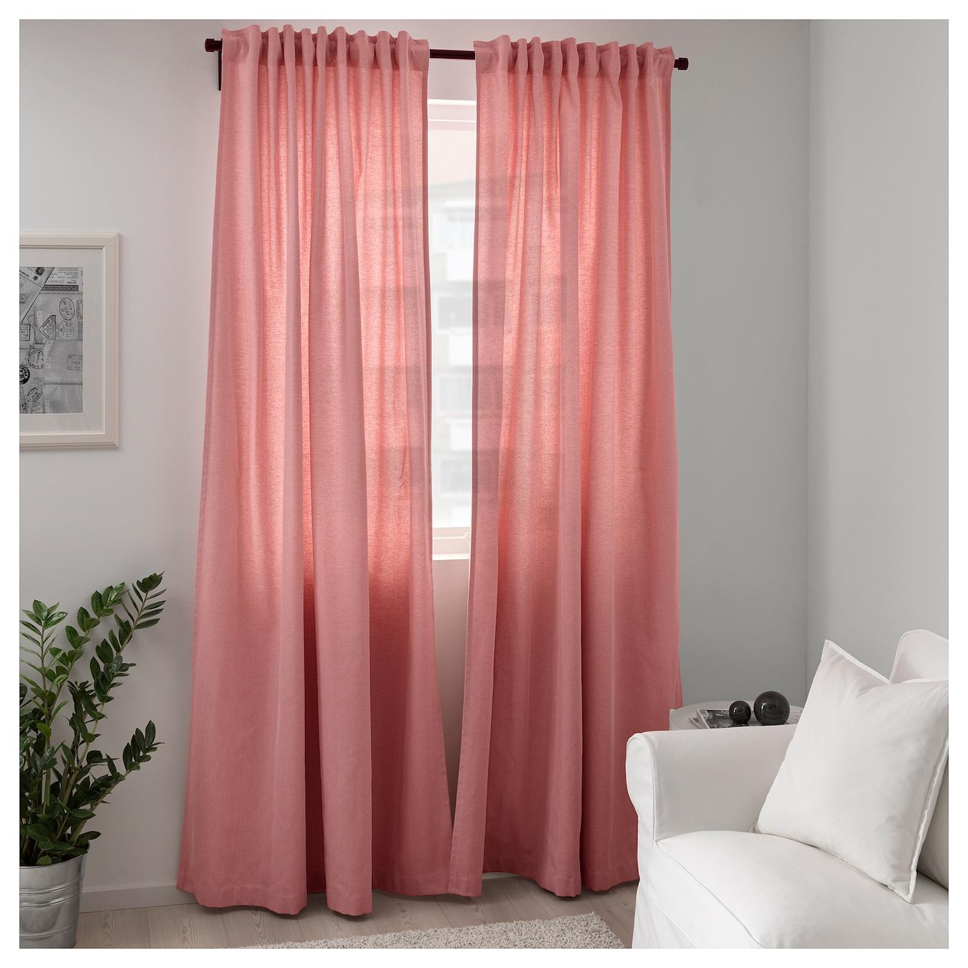 TIBAST Gordijnen, 1 paar Roze 145 x 300 cm - IKEA