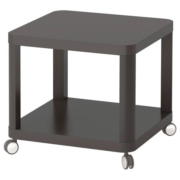 TINGBY Bijtafel op wielen, grijs, 50x50 cm
