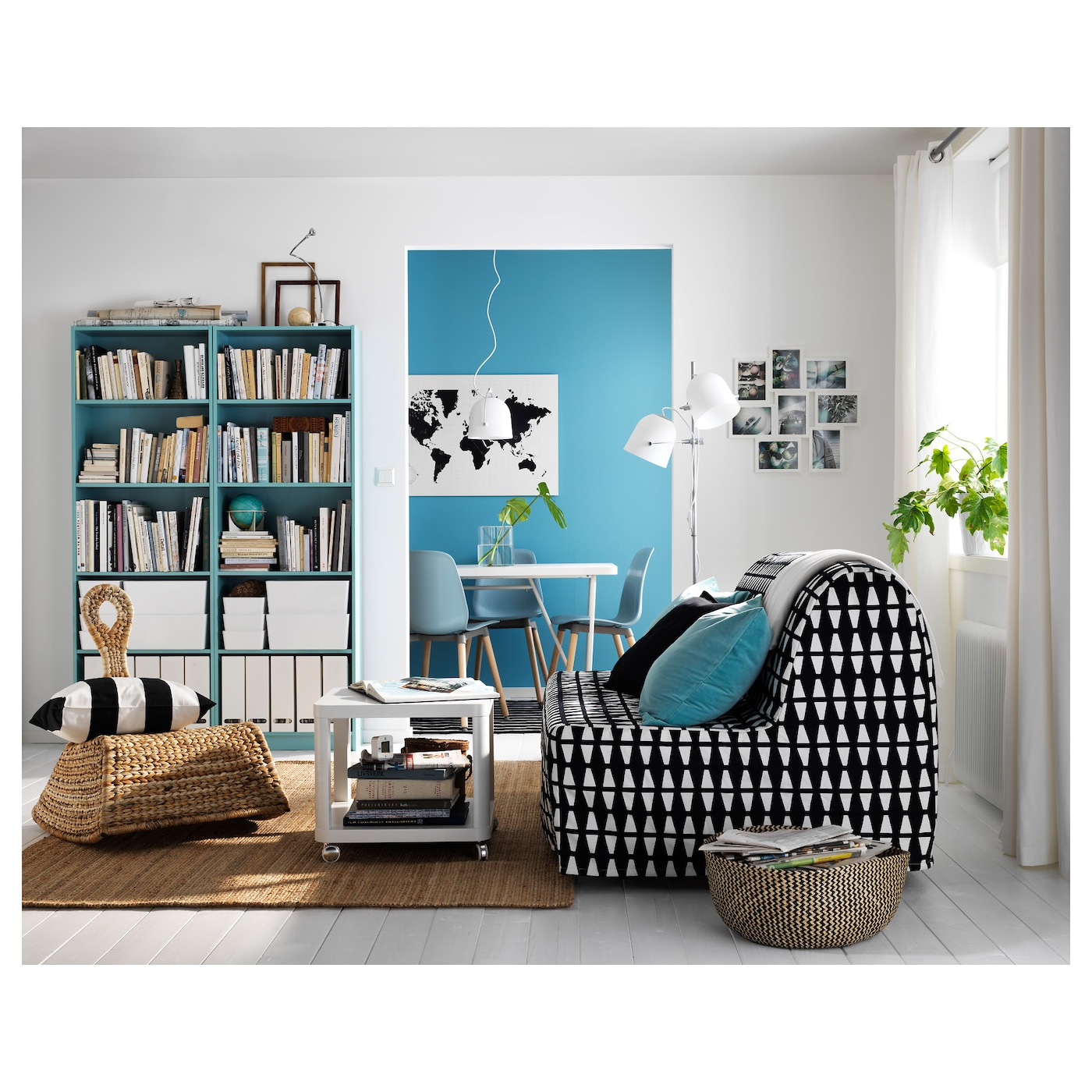 tingby bijtafel op wielen wit 50x50 cm ikea. Black Bedroom Furniture Sets. Home Design Ideas