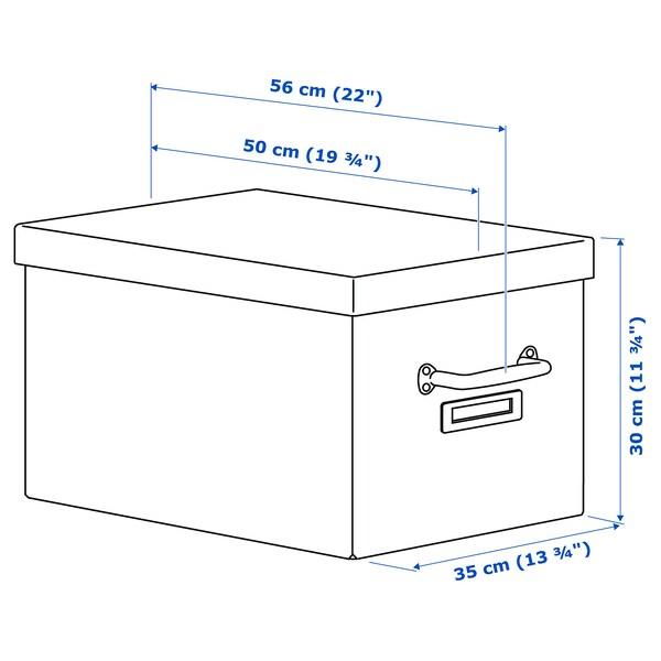 TJOG Doos met deksel, donkergrijs, 35x56x30 cm