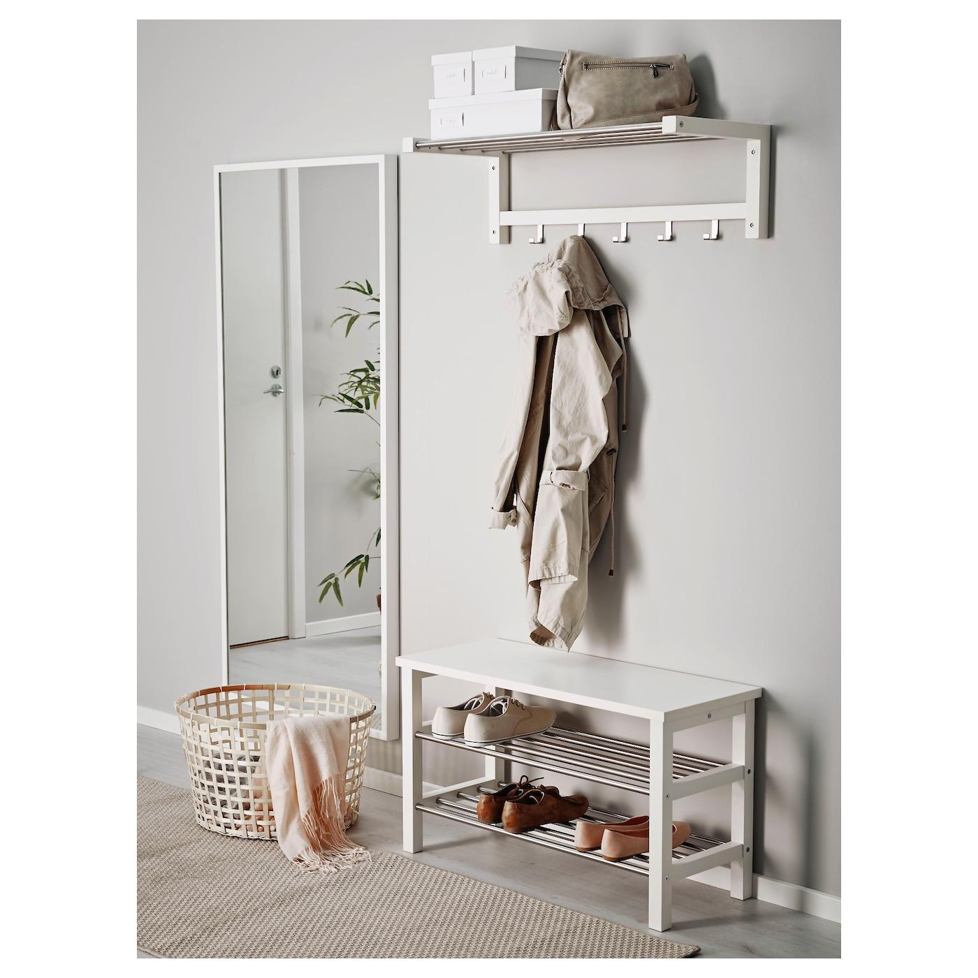 Tjusig bank met schoenenrek wit 81x50 cm ikea - Ikea flurgarderobe ...