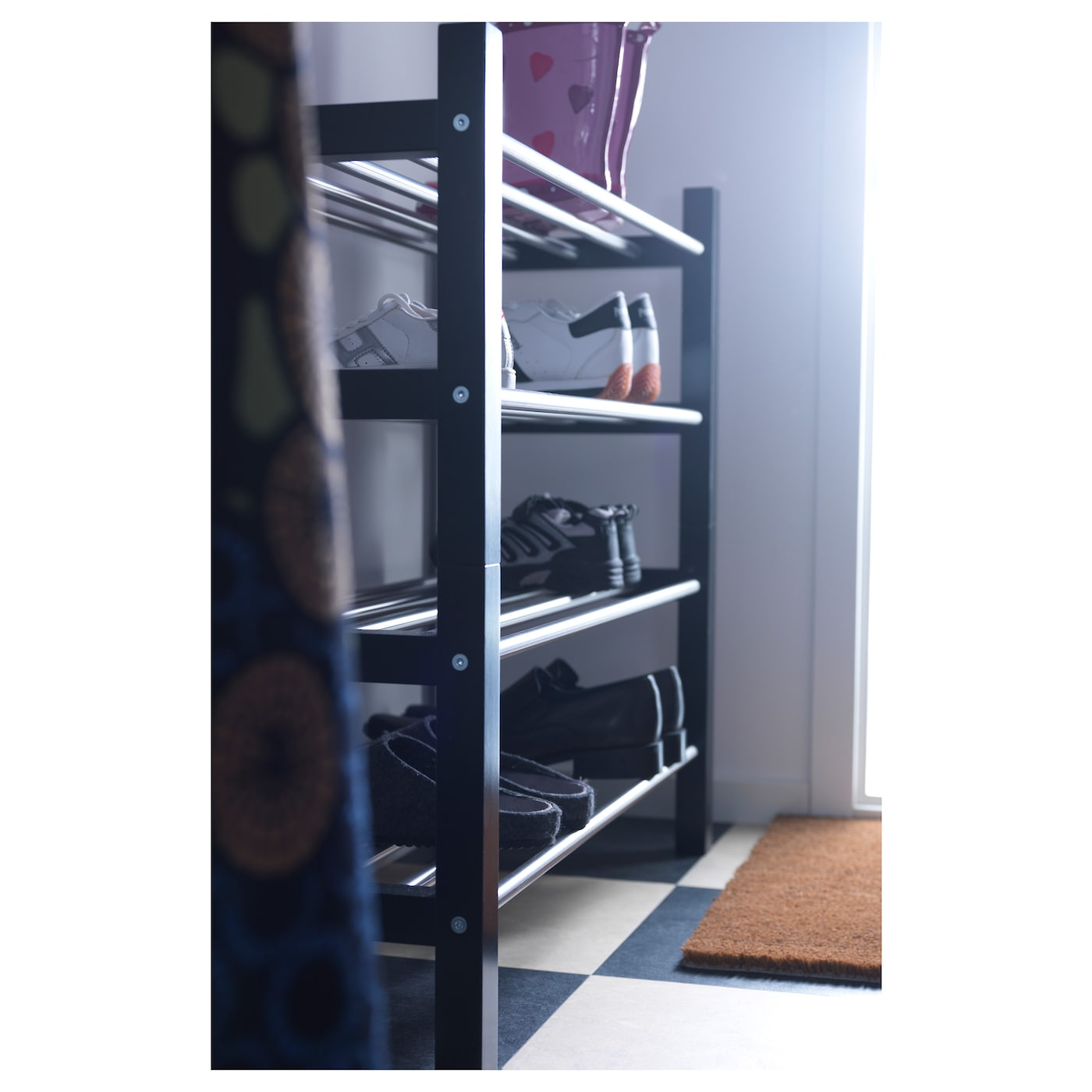 TJUSIG Schoenenrek Zwart 79 cm IKEA