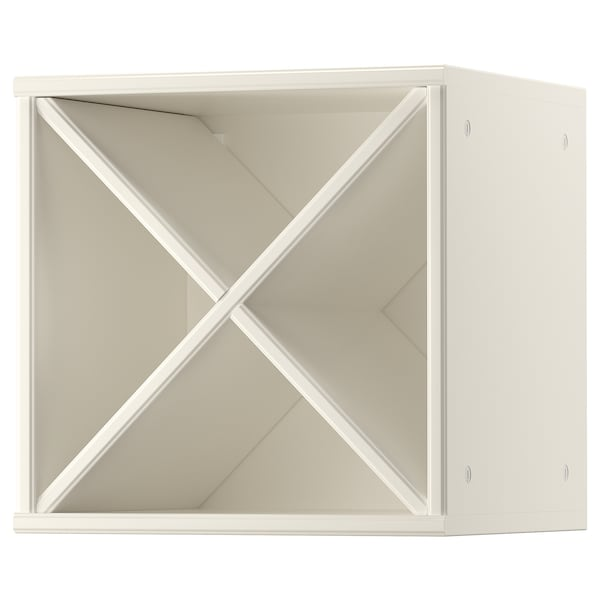TORNVIKEN Wijnrek, ecru, 40x37x40 cm