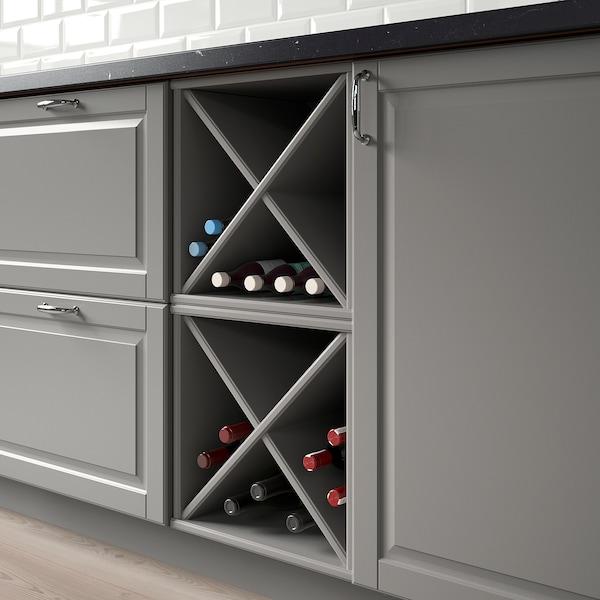 TORNVIKEN Wijnrek, grijs, 40x37x40 cm