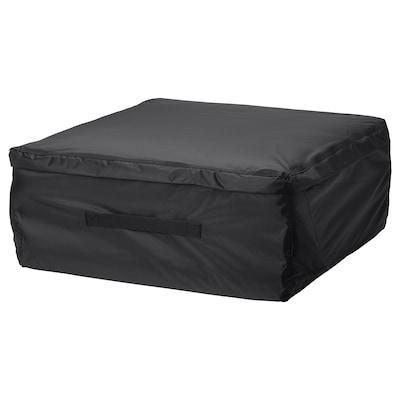 TOSTERÖ Opbergtas voor kussens, zwart, 62x62 cm