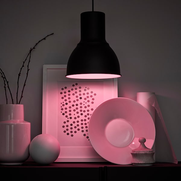 TRÅDFRI Led-lamp E27 600 lumen, draadloos dimbaar gekleurd en wit spectrum/globe opaalwit