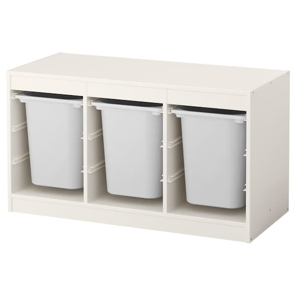 TROFAST Opbergcombinatie met bakken, wit/wit, 99x44x56 cm