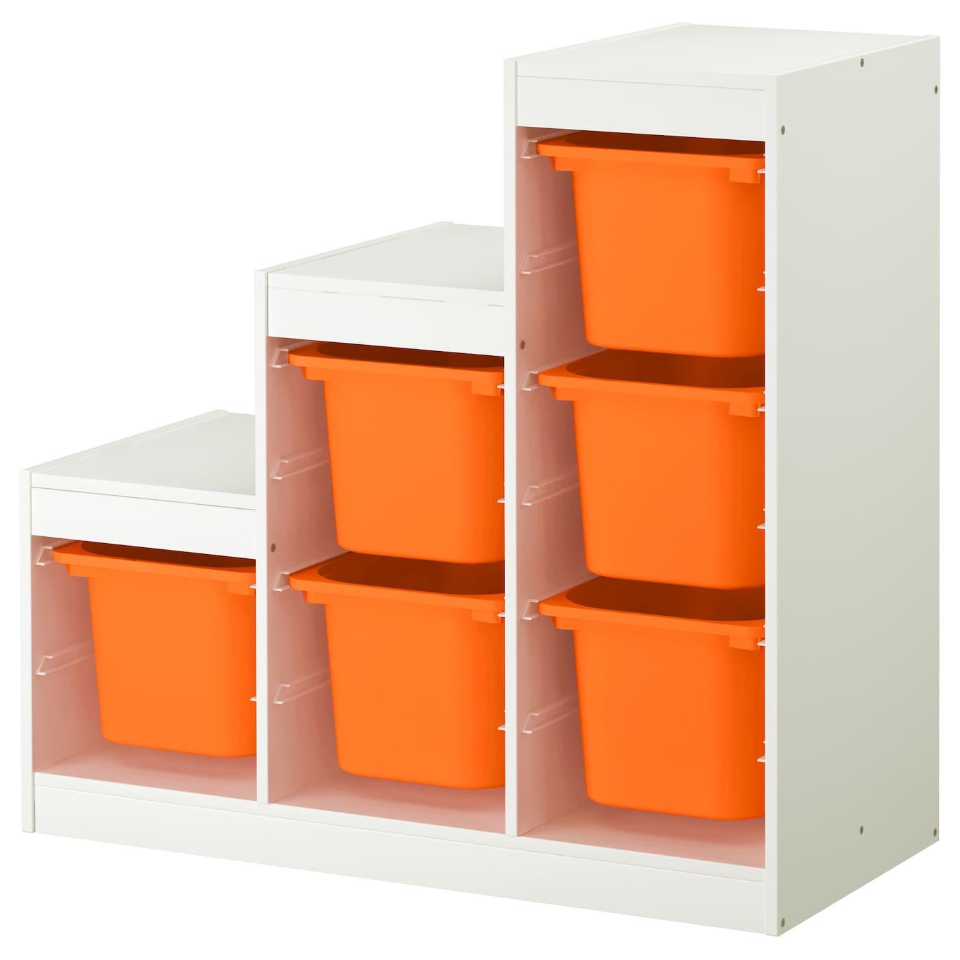 trofast opbergcombinatie wit oranje 99 x 44 x 94 cm ikea. Black Bedroom Furniture Sets. Home Design Ideas