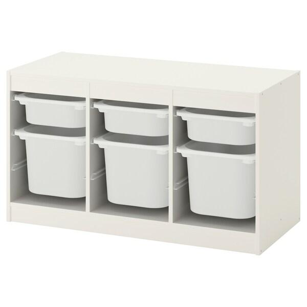 TROFAST opbergcombinatie met bakken wit/wit 99 cm 44 cm 56 cm
