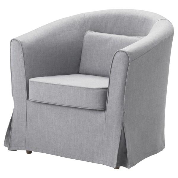 Ikea Eetkamer Stoelhoezen.Tullsta Hoes Fauteuil Nordvalla Middengrijs Ikea