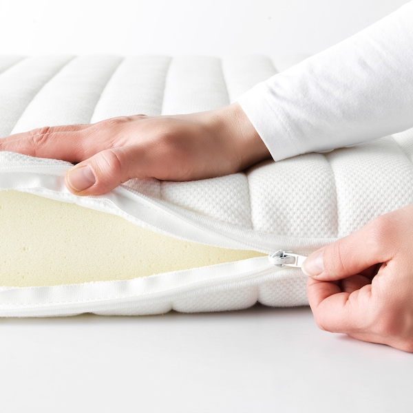 TUSSÖY Dekmatras, wit, 80x200 cm