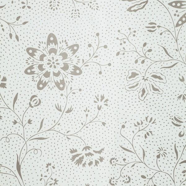 TYCKELN Douchegordijn, wit/donkerbeige, 180x200 cm