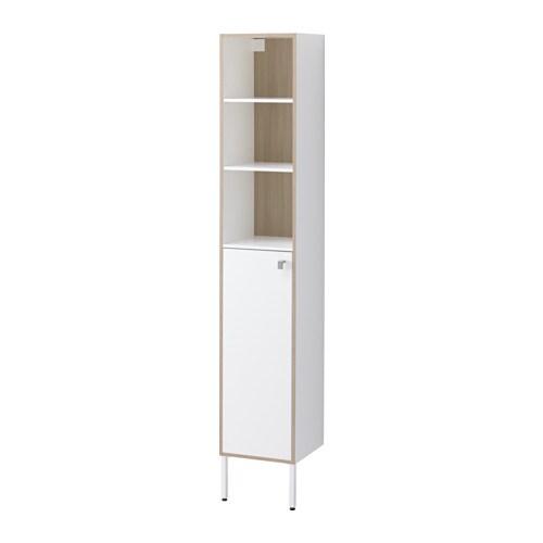 TYNGEN Hoge kast Wit/essenpatroon 30x29x177 cm - IKEA