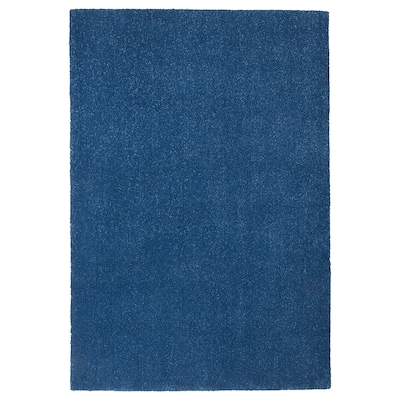 TYVELSE Vloerkleed, laagpolig, donkerblauw, 133x195 cm