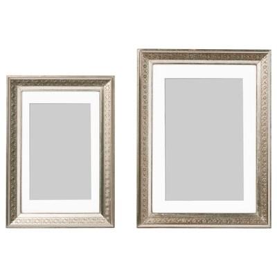 UBBETORP Lijst, set van 2, zilverkleur