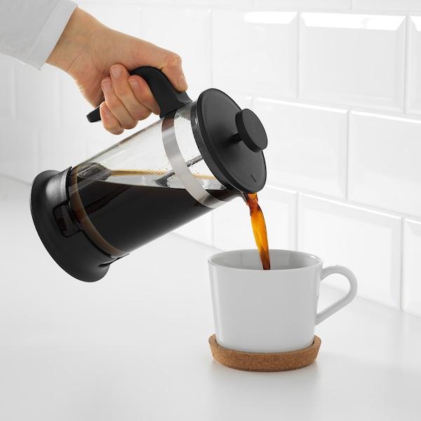UPPHETTA Koffie-/theemaker, glas/roestvrij staal, 1 l