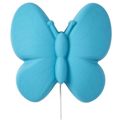 UPPLYST led-wandlamp vlinder lichtblauw 110 lumen 28 cm 9 cm 27 cm 2.0 m 1.6 W