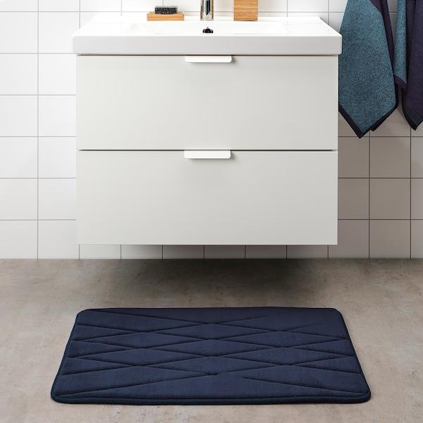 UPPVAN Badmat, donkerblauw, 50x80 cm