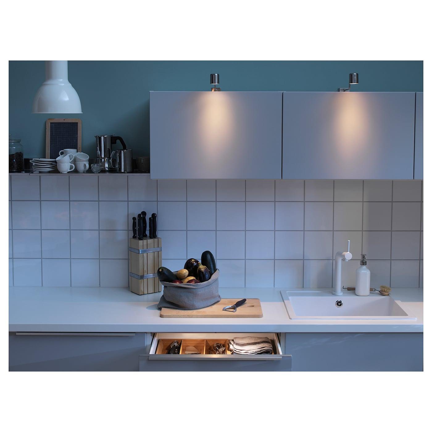 URSHULT Led-kastverlichting Vernikkeld - IKEA
